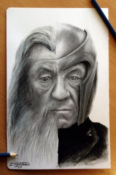 Gandalf / Magneto by AtomiccircuS