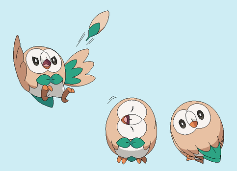 Rowlet lineart by michy123