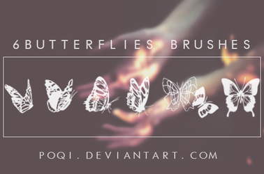 {6 Butterflies Brushes} by Poqi