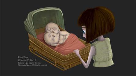 Fran Bow and twin babies. by NataliaMartinsson
