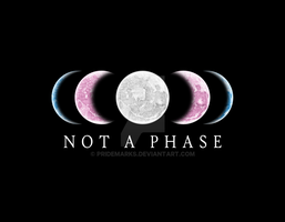 Not A Phase - TRANS Pride by PrideMarks