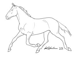Standardbred Lineart by Kholran