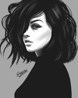 Different style doodle by iQU33N