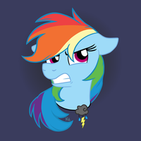 Angry Dashie by Pink-Pone