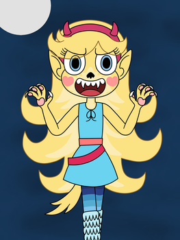 Star Butterfly turned into a werewolf by Deaf-Machbot