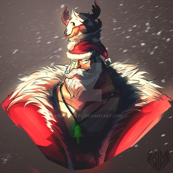 Santa Braum (League Of Legends) by Dragunnity