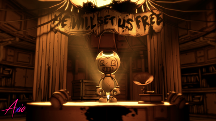 Library Entrance | Bendy Chapter 4 Poster by realAxie