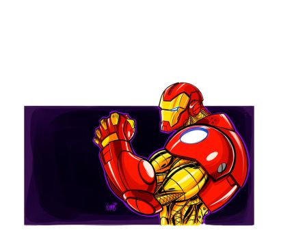 first attempt to make iron man  by ONELOUSYCAT