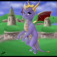 Spyro the Dragon by TheMoonfall