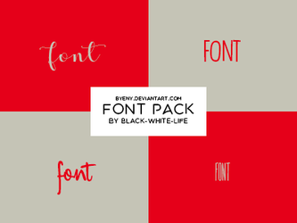 Fonts Pack 5 By Black-white-life by ByEny