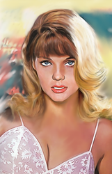 70s Poster Art Style Pinup by rjakobson