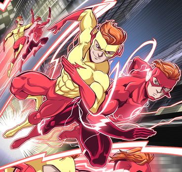 Titans: Kid Flash vs Flash by LucianoVecchio