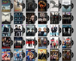 DVD Folder Icons for TV Shows Set#3 by Drac-69