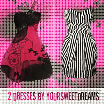 Pack 2 dresses PNG by YourSweetDreams