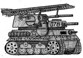 Soviet Super Tank by atisuto17