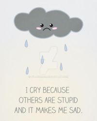I Cry Because Others are Stupid by WildeGeeks