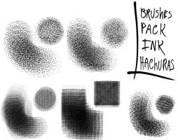 Brushes Pack-Ink hachuras by Filsd