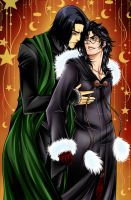 Severus Snape and Harry Potter by Marie-Angele