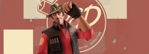 TF2 Facebook Cover - Sniper (RED) by SugarLiz