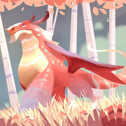 Speedpaint: Pink dragon by ApollinArt