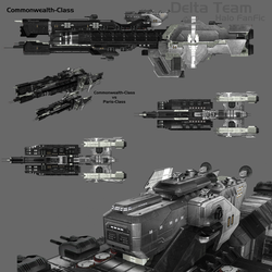 Commonwealth-Class Destroyer by HaloDarkAge