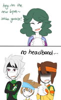 No headband... by VIMYO