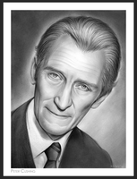 Peter Cushing by gregchapin