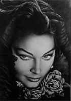 Ava Gardner With Roses by Timeless-Faces