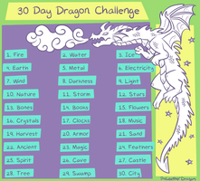 30 Day Dragon Challenge by TheLeatherDragonI