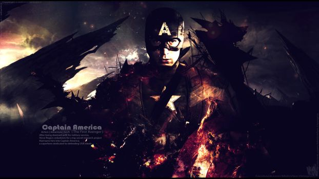 Captain America the Battle End - wallpaper V1 by Mido-Vlan