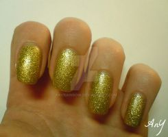 Pure Gold Nail Polish by AnyRainbow