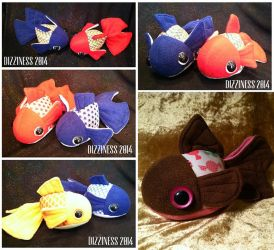 Goldfish plushies part 01 by dizziness
