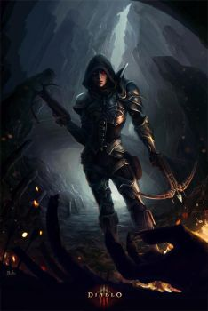 Demon Hunter - Diablo 3 by rodg-art