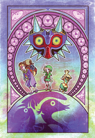 Majora's Mask - Art Nouveau by XibXib