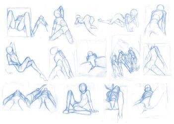 Random poses 26 (the 'dirty' sheet :v) by Brant-Bi