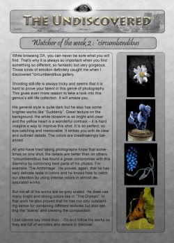 Issue 5- Watcher of the Week 2 by The-Undiscovered