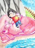 Steven and Lion by CalChi