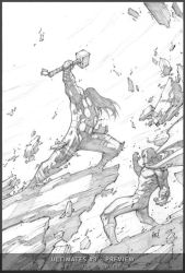 Ultimates3 Cover 4 Pencils by liquidology
