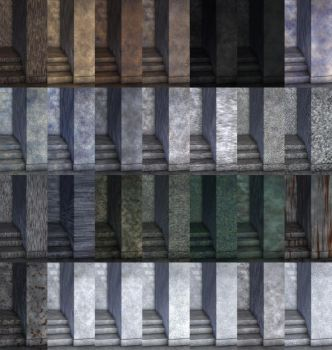 28 Stone Materials for Poser by parrotdolphin