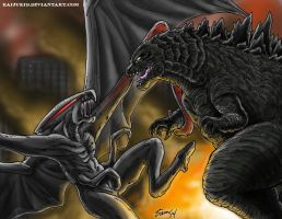 Legendary Showdown by kaijukid