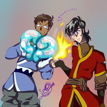 Klance Week day 1: Red/Blue by SilverScarlet99