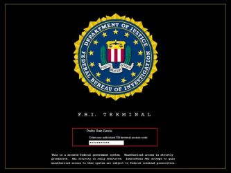 FBI Terminal Logon by aruiz1