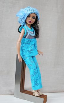 Tonner Ellowyne Wilde outfit 'Forget-me-not' by Bussardelka
