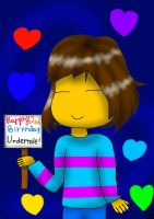 Happy 2nd B-Day Undertale by YuliaRabbid