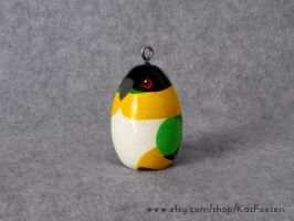 Commission: Custom Black-Headed Parrot Ornament by KazFoxsen