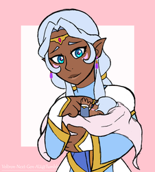 Allura and baby Alfor by Infinity-Drawings