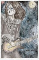Ace Frehley watercolour by Shikazumi