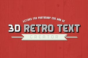 3D Retro Text Creator Photoshop Actions by pstutorialsws