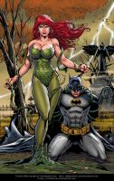 Poison Ivy and Batman By Marcio  Abreu by Kristherion