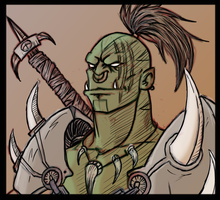 Orc Warrior by ShovelRonin